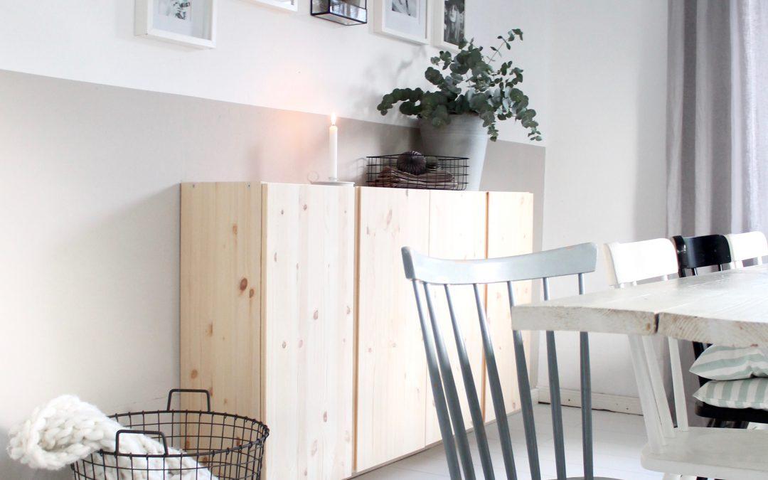 Mehr Holz im Esszimmer, eine günstige Storage Lösung